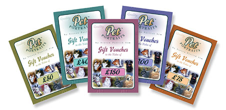Pet Portrait Gift Vouchers